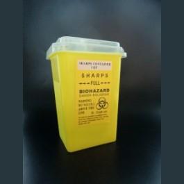 使い捨て用品等廃棄処理BOX(イエロー)