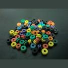 ミックスカラーニードルラバー50個(ダブルタイプ) ยางใส่รูเข็มคละสี